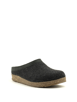 Men's Haflinger Grizzly Slipper Charcoal