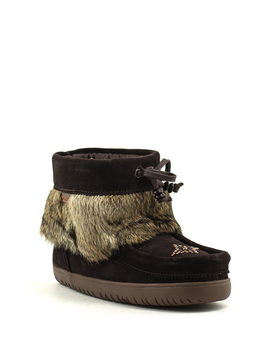 Manitobah Keewatin Suede Waterproof Mukluk Dark Brown