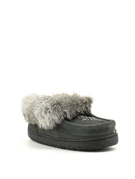 Manitobah Mukluks Journey Moccasin Suede Charcoal