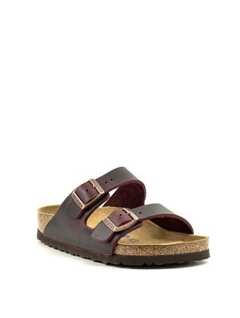 Birkenstock Arizona Waxy Leather Soft Footbed Regular Width Zinfandel