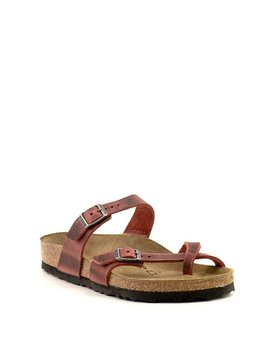 Birkenstock Mayari Earth Red Waxy Leather Regular Width