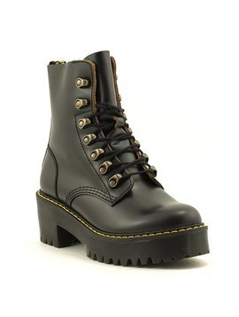 Dr. Martens Leona Boot Vintage Smooth Black Leather
