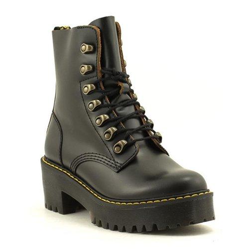 Doc Martens Dr. Martens Leona Boot Vintage Smooth Black Leather