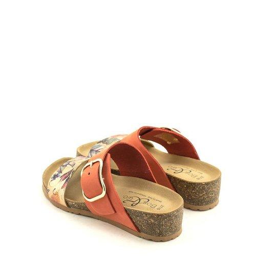 Bos & Co Bos & Co Lapo Sandal Mandarin Print