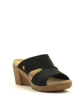 Art 1670 Wedge Sandal Black