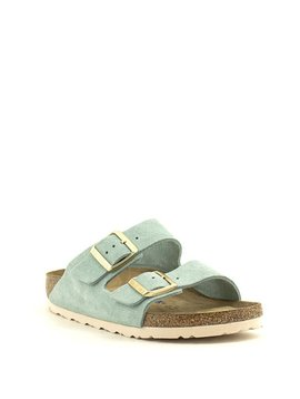 Birkenstock Arizona Light Blue Suede Leather Soft Footbed Narrow Width
