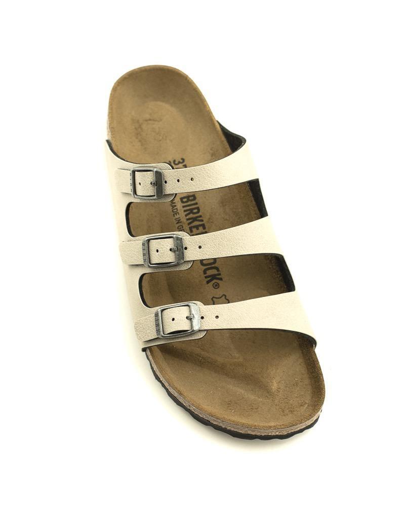 Birkenstock Birkenstock Florida Birko Flor Narrow Width Pull Up Stone Sandal