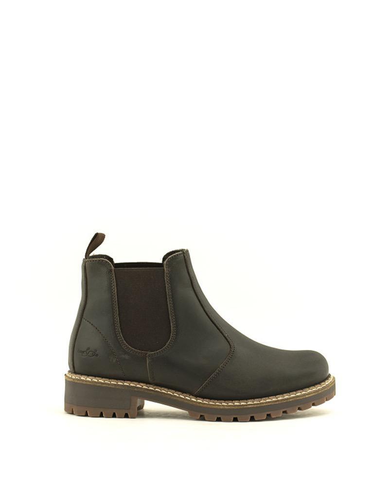 Bos & Co Bos & Co Callen Waterproof Chelsea Boot Dark Brown
