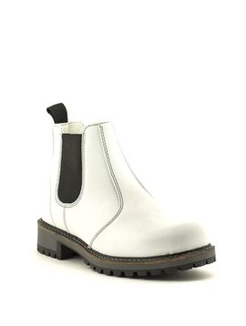 Bos & Co Callen Waterproof Chelsea Boot White