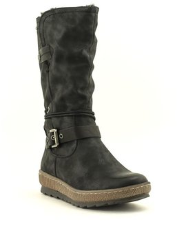 Relife 0717-18802B-23 Mid Wedge Boot Black Waterproof
