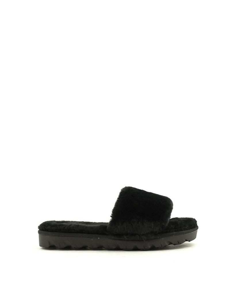 Chinese Laundry Chinese Laundry Rally Faux Fur Slipper Black