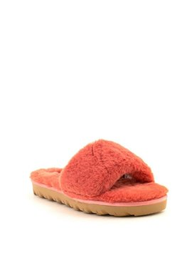 Chinese Laundry Rally Faux Fur Slipper Coral
