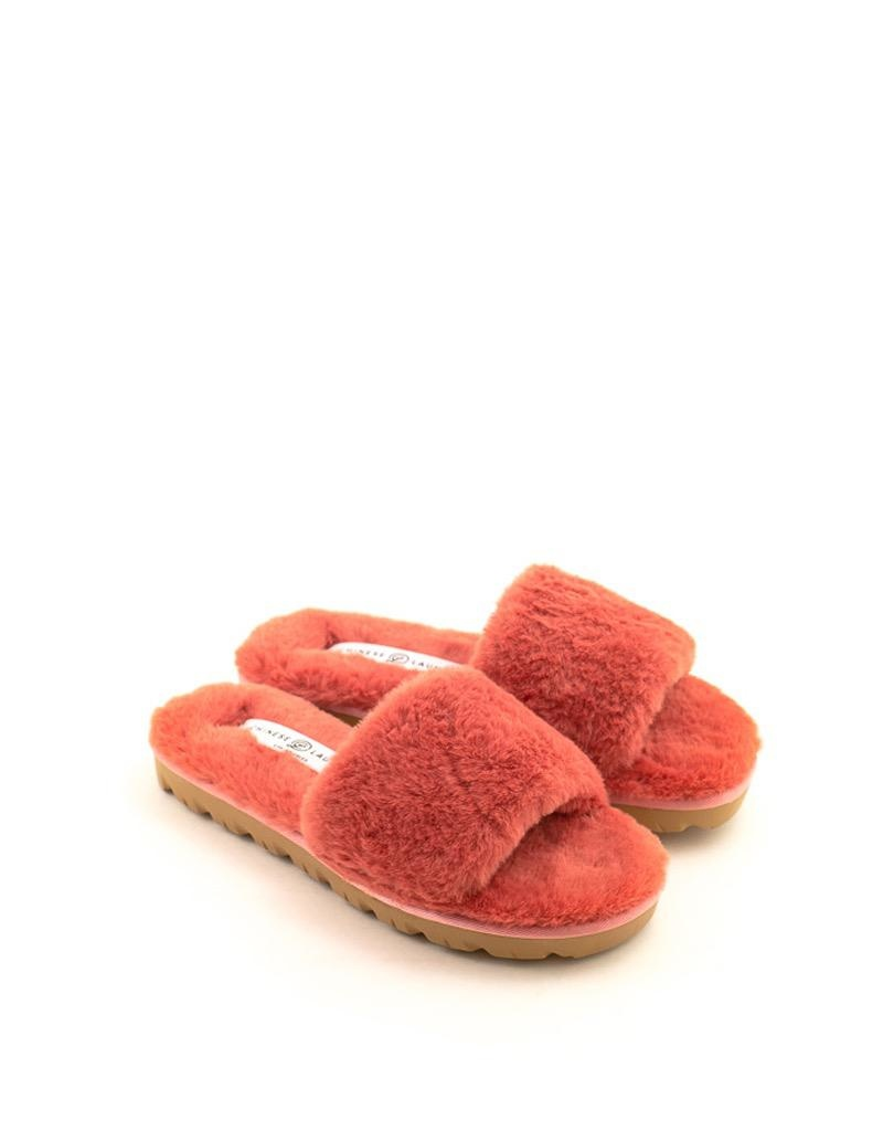 Chinese Laundry Chinese Laundry Rally Faux Fur Slipper Coral
