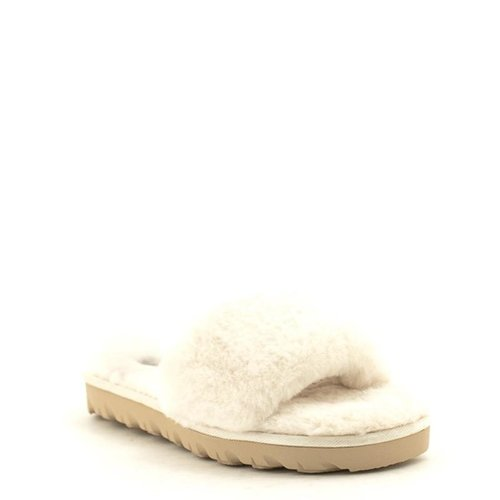 Chinese Laundry Chinese Laundry Rally Faux Fur Slipper Cream