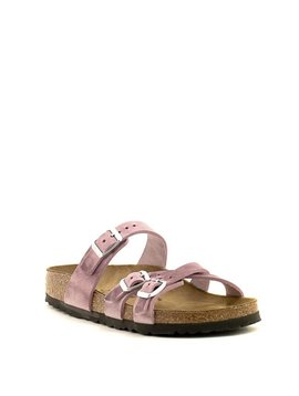 Birkenstock Franca Lavender Blush Waxy Leather Narrow Width