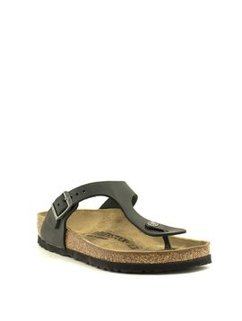 Birkenstock Gizeh Oiled Black Leather Regular Width