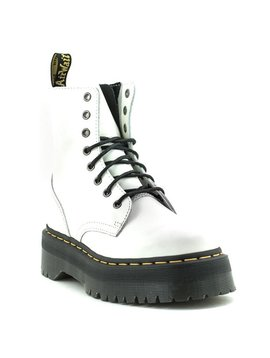 Dr. Martens Jadon Boot White Polished Smooth Leather