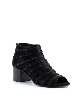 Ateliers Safia-Low Peep Toe Black