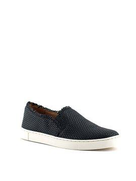 Frye Ivy Fray Woven Slip Shoe Black