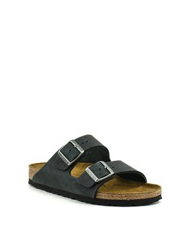Birkenstock Arizona Black Natural Leather Narrow Width