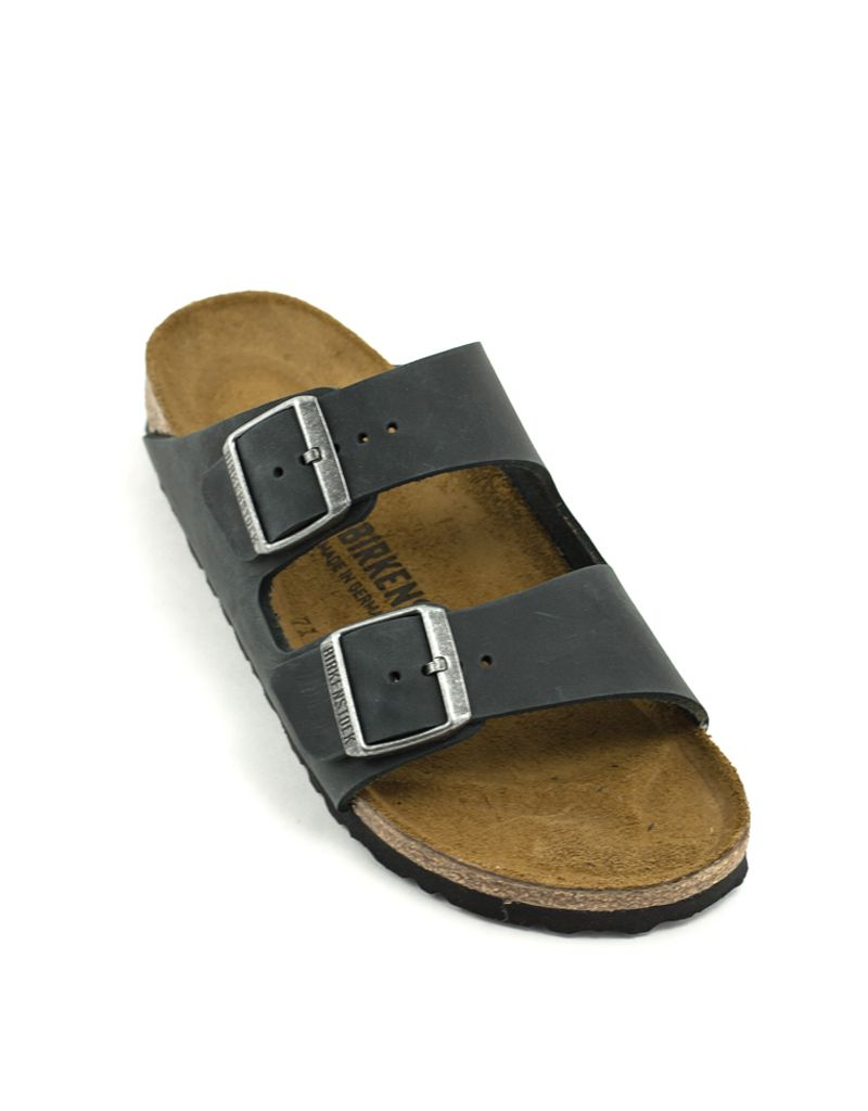 Birkenstock Birkenstock Arizona Black Natural Leather Narrow Width