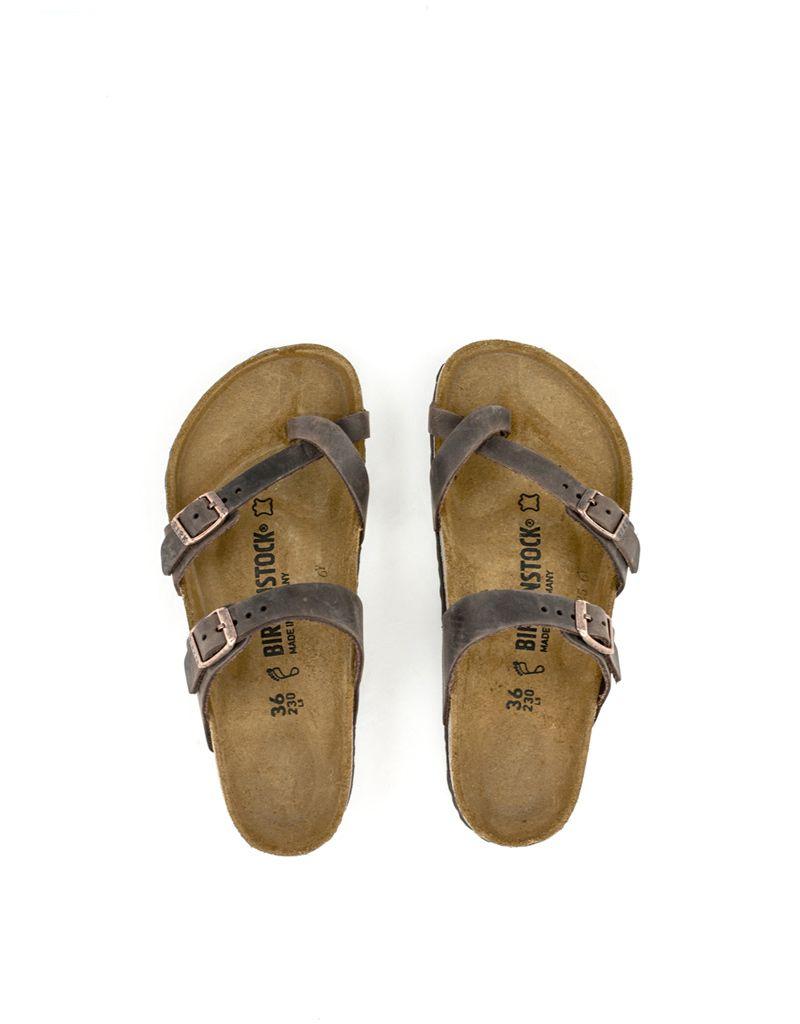 Birkenstock Birkenstock Mayari Havana Natural Leather Regular Footbed
