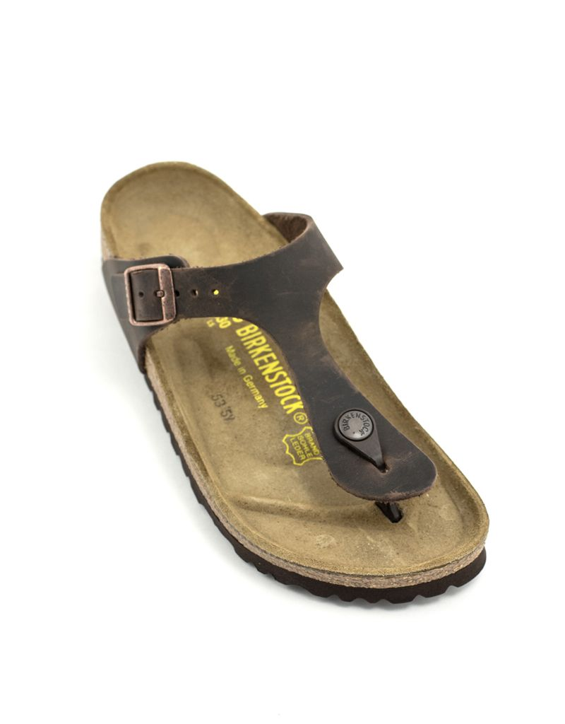 Birkenstock Birkenstock Gizeh Habana Leather Narrow Width