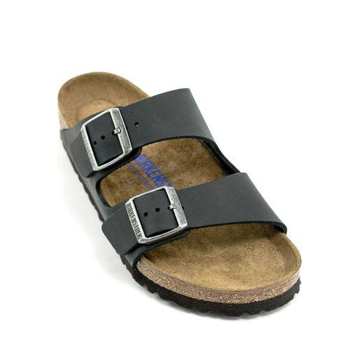 Birkenstock Birkenstock Arizona Black Oiled Leather Soft Footbed Regular Width
