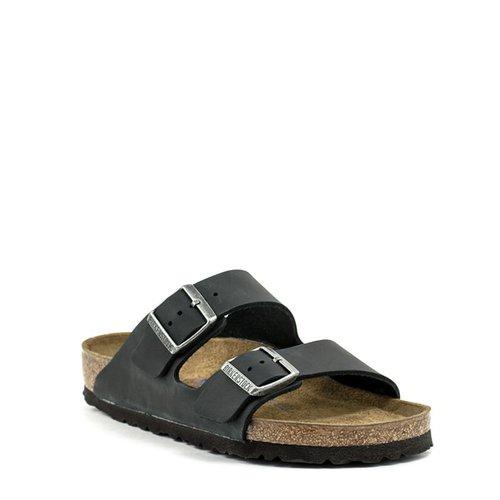 5f4fe6184 Birkenstock Birkenstock Arizona Black Oiled Leather Soft Footbed Regular  Width ...