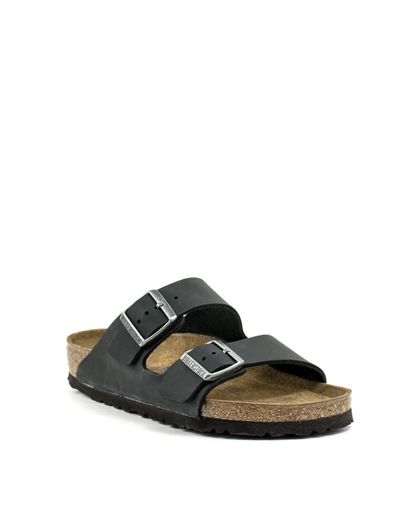 59cff5e81 Birkenstock Birkenstock Arizona Black Oiled Leather Soft Footbed Regular  Width