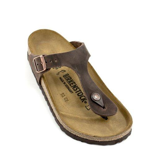 Birkenstock Birkenstock Gizeh Habana Leather Regular Width