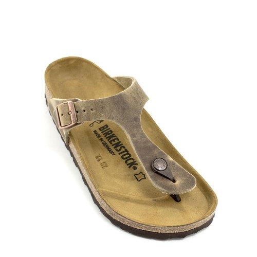 Birkenstock Birkenstock Gizeh Tobacco Brown Leather Regular Footbed
