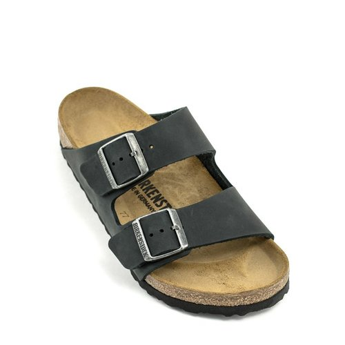 Birkenstock Birkenstock Arizona Black Natural Leather Regular Width