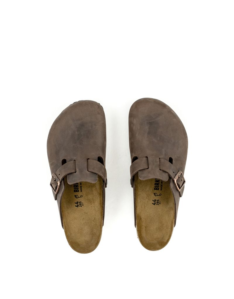 Birkenstock Birkenstock Boston Habana Leather Regular Width