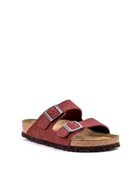Birkenstock Arizona Rosewood Nubuck Leather Soft Footbed Regular Width