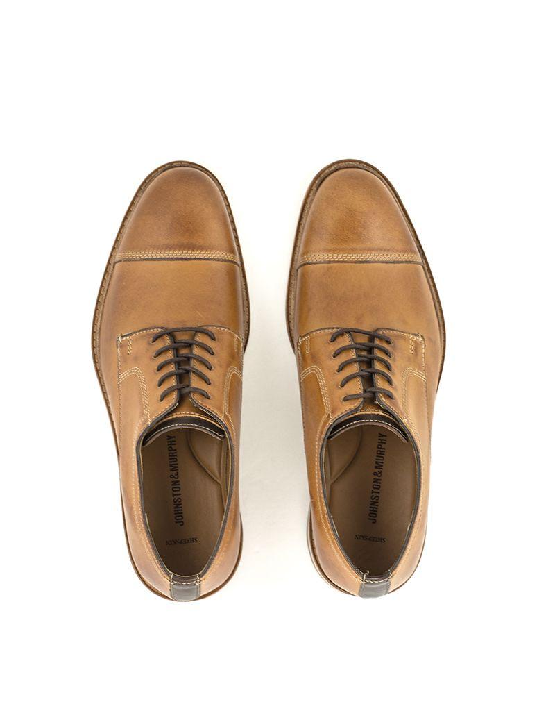 80121c72cf3 Johnston   Murphy Men s Johnston   Murphy Campbell Cap Toe Shoe Tan