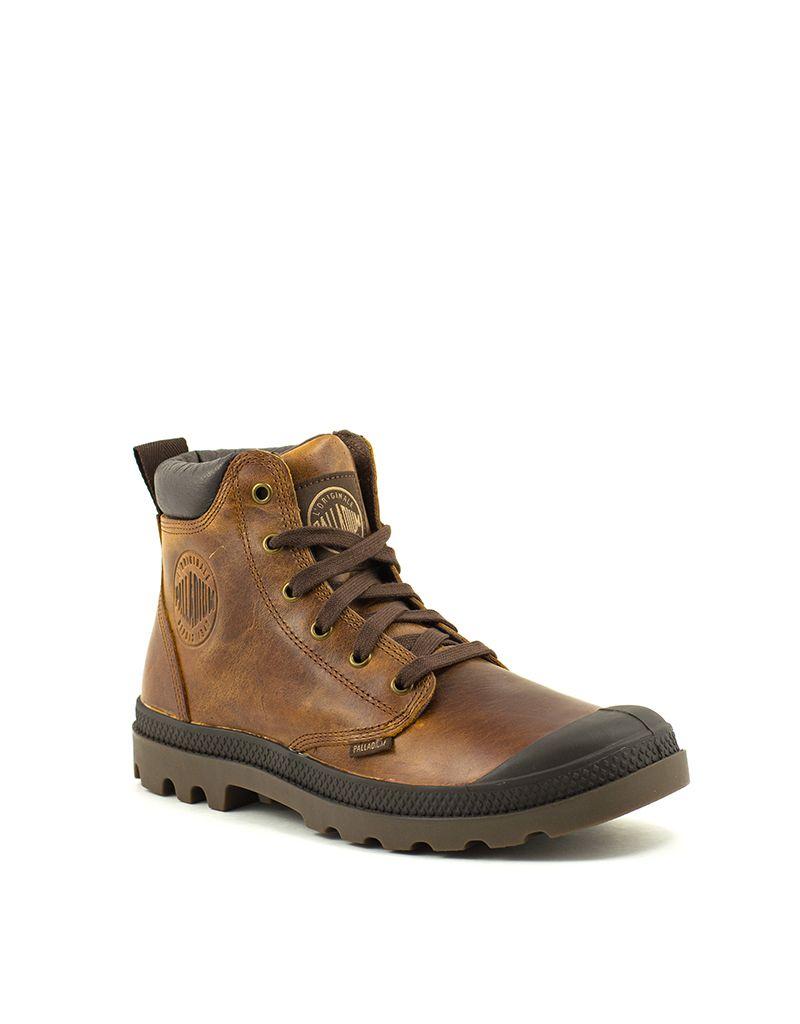 b51548995b79a0 Palladium Men s Palladium Pampa Hi Cuff Leather Boot Sunrise Chocolate
