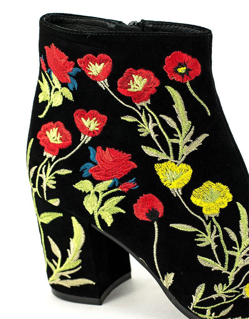 Wittner Wittner Ezrah Boot Black Embroidered
