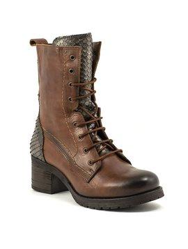 Felmini 1082 Boot Tan Metallic Snake