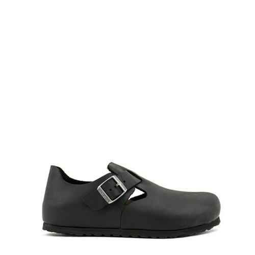 Birkenstock Birkenstock London Black Oiled Leather Narrow Width