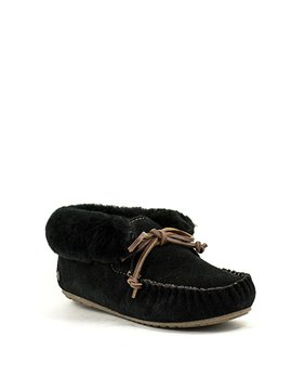Emu Moonah Moccasin Black