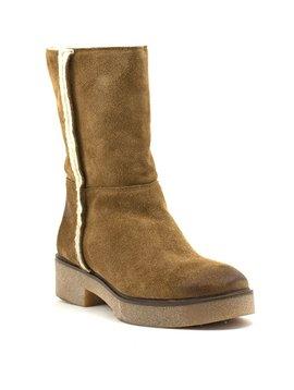 David Tyler Derek 6 Fur Boot Cognac