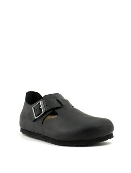 Birkenstock London Black Oiled Leather Narrow Width