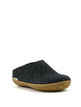 Glerups Slipper Rubber Sole Charcoal