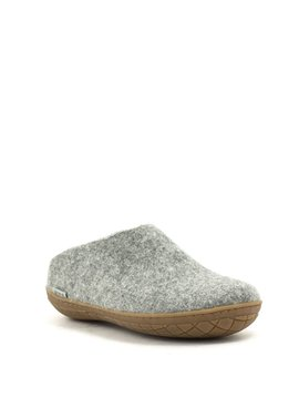 Glerups Slipper Rubber Sole Grey