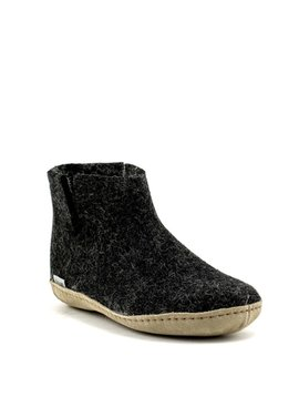 Glerups Boot Suede Sole Charcoal