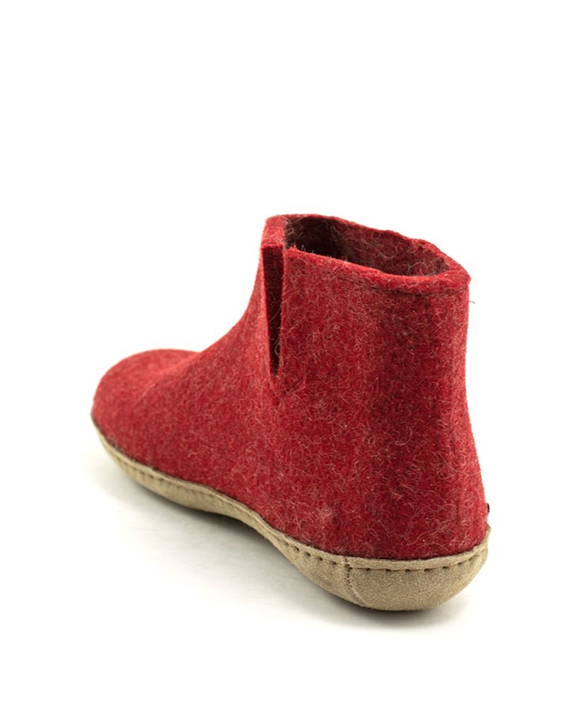 Glerups Glerups Boot Suede Sole Red