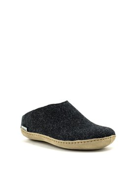 Glerups Slipper Suede Sole Charcoal