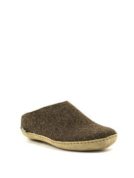 Glerups Slipper Suede Sole Brown