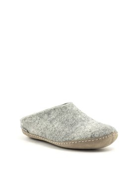 Glerups Slipper Suede Sole Grey